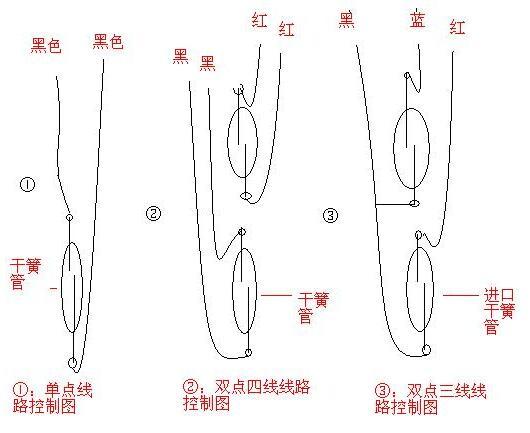 液位浮球开关接线图